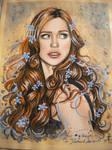 My portrait signed by Deborah Ann Woll.
