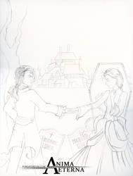 Roderick and Madeline Usher - Sketch