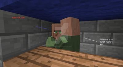 Bullies in Minecraft by NolerRobert