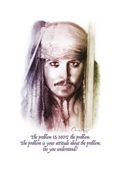 Poster Jack Sparrow (Johnny Depp) by maximvs