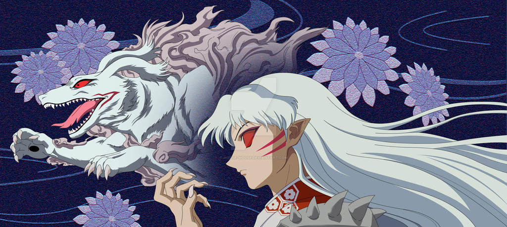From present to past  - Page 25 Sesshomaru_youkai_by_house_mouse-d3feji8