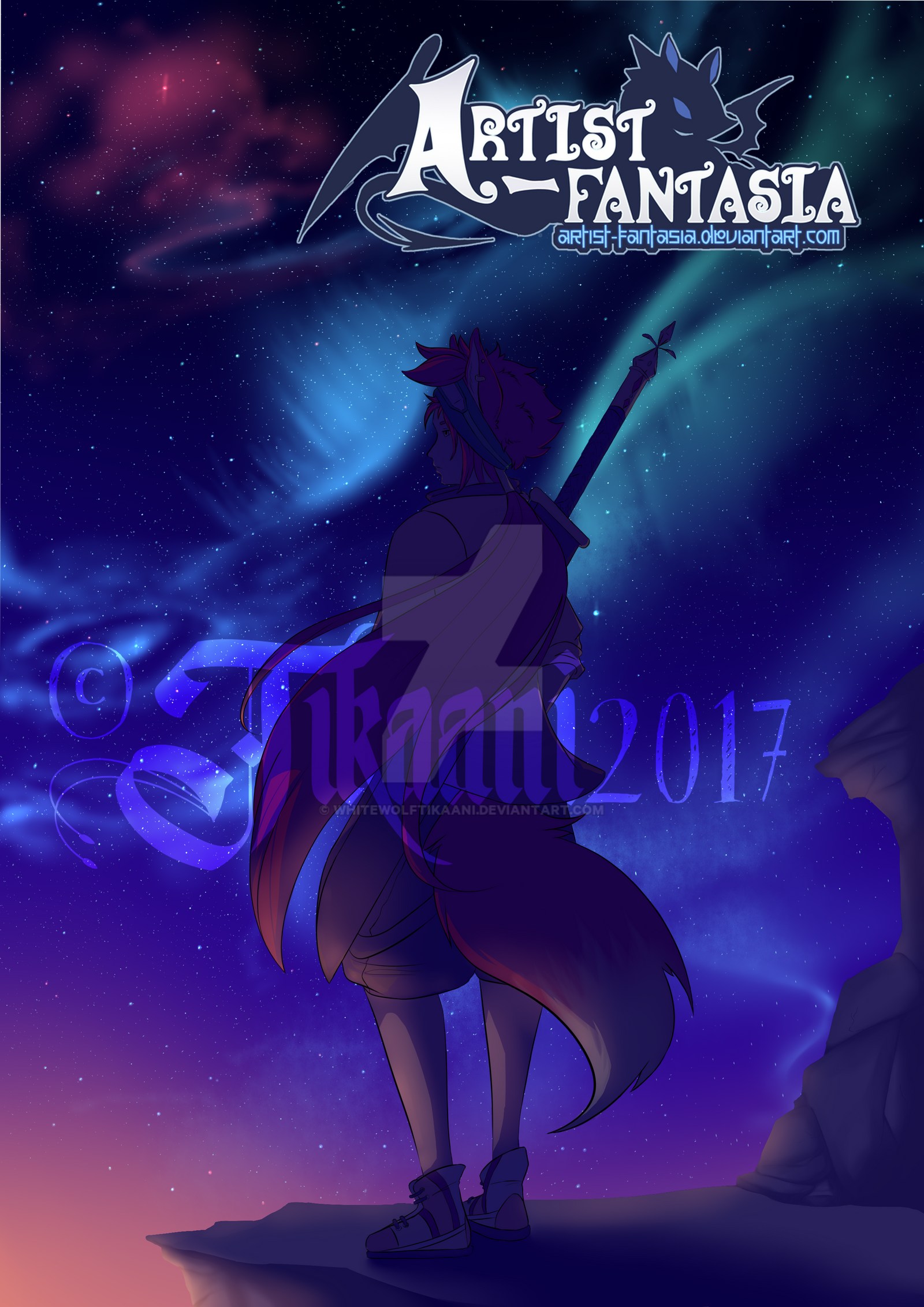 Cover Artist Fantasia Greeting Mission by WhiteWolfTikaani