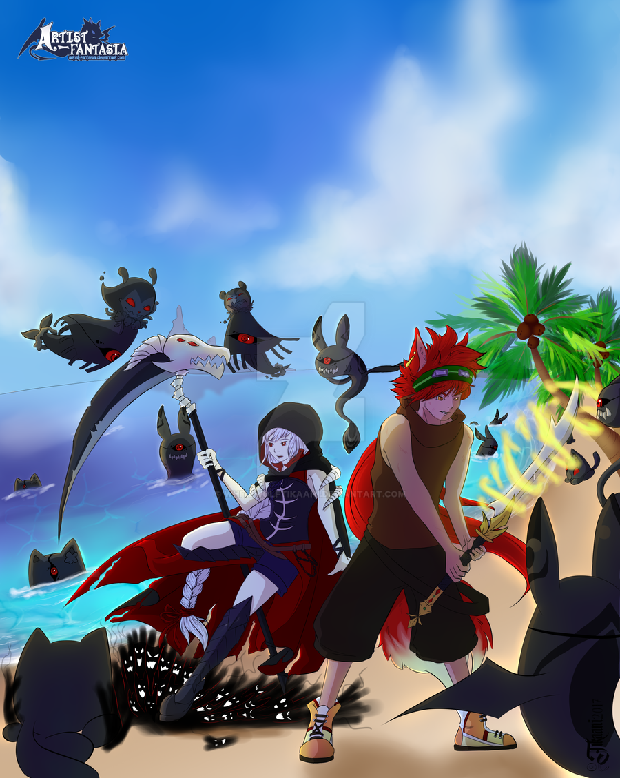 [AF] Beach Mission . Big fight by WhiteWolfTikaani