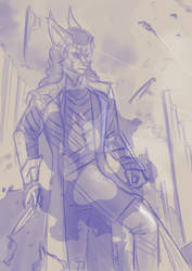 [request] Risk Cosplays Loki Sketch