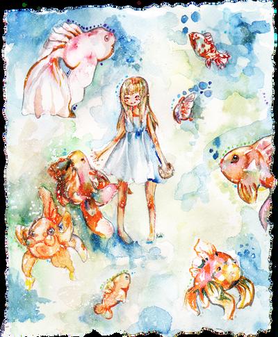Goldfish by MiniMushroom