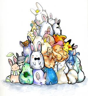 Pile of bunnys.