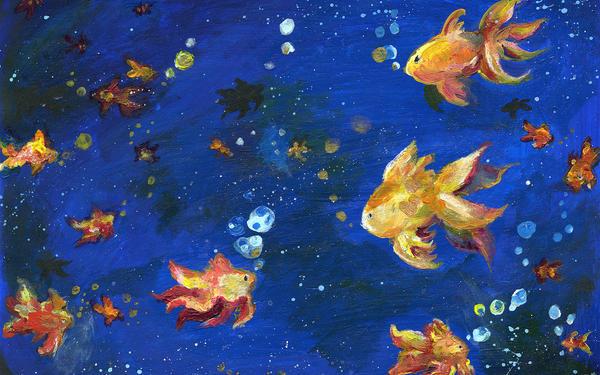 Goldfish Universe by MiniMushroom