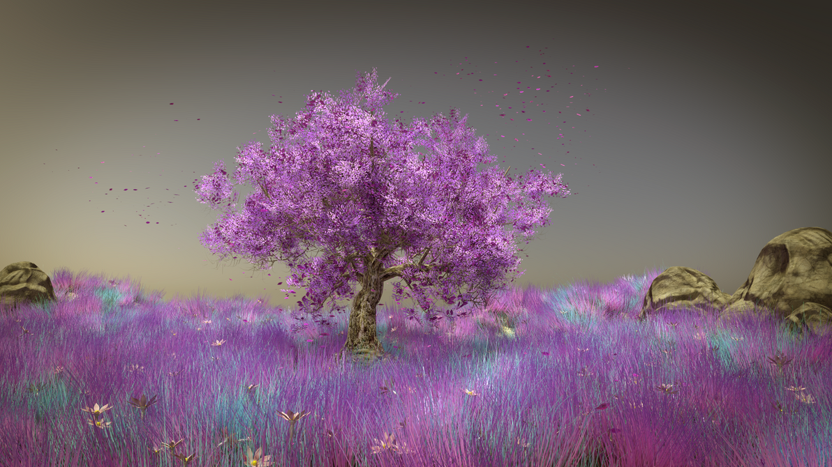 pink tree by FeindBlut