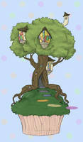 Tree Houses on Cupcakes