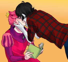 Marshal Lee and Prince Gumball by aliza123123