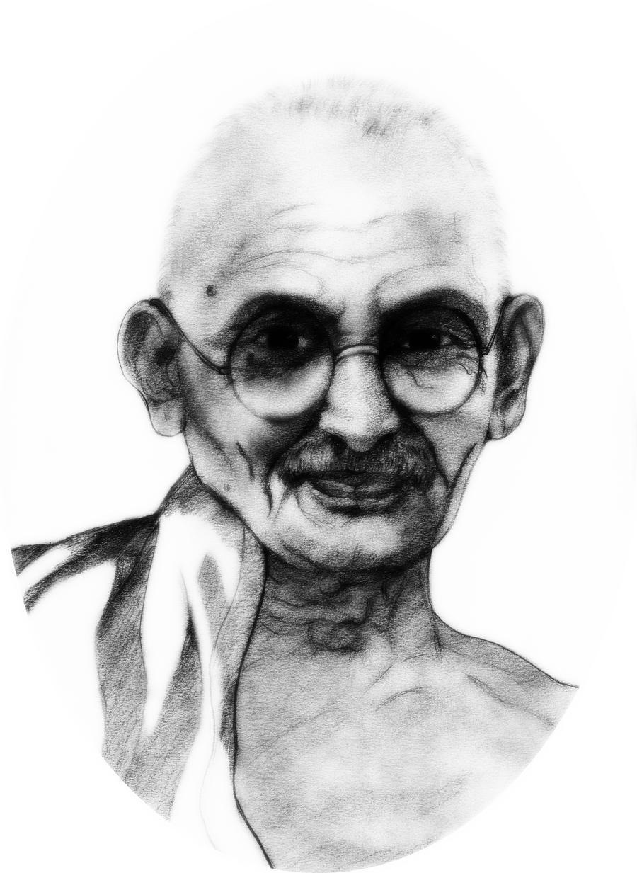 Mahatma Gandhi by manojart