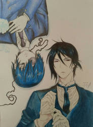 Black butler Sebaciel by MrMadam