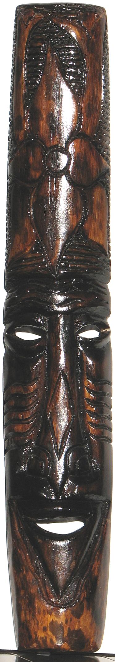 Hawaiian Wooden Mask Carving by buddhascii