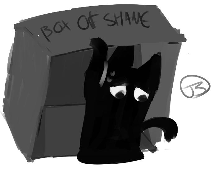 box of SHAME by MekkaLuvsYou