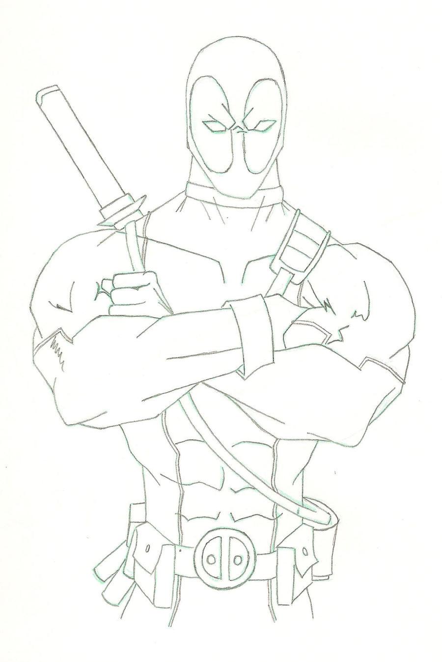 Deadpool Sketch By HiringHenchmen On DeviantART