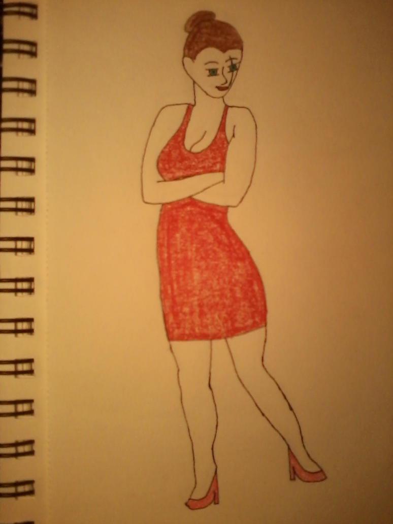 Barbara wears a dress by aajjww121