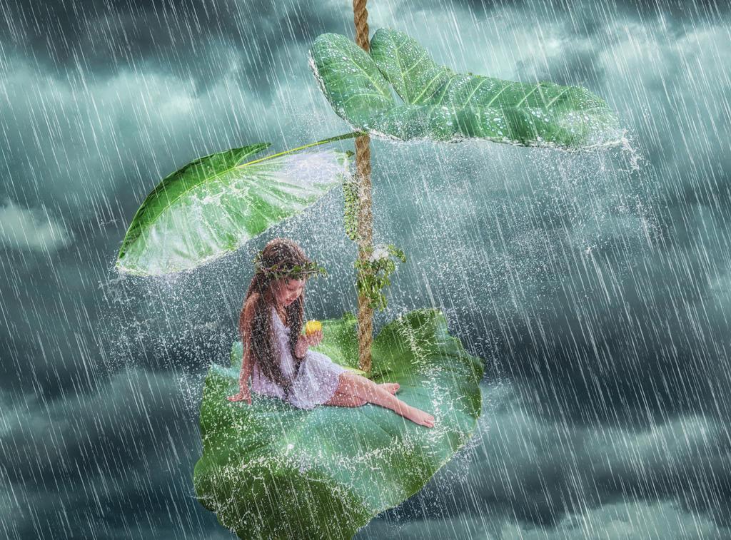 a light in the rain by AR-DESINGS