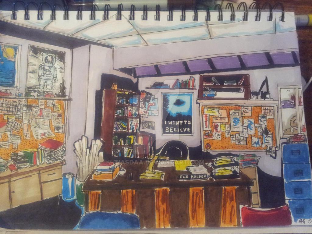 Mulder's office by Tiasdaa