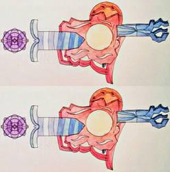 Mini supernova pistols by Alisterlebeau