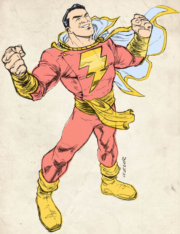Captain Marvel sketch for Evan by dichiara