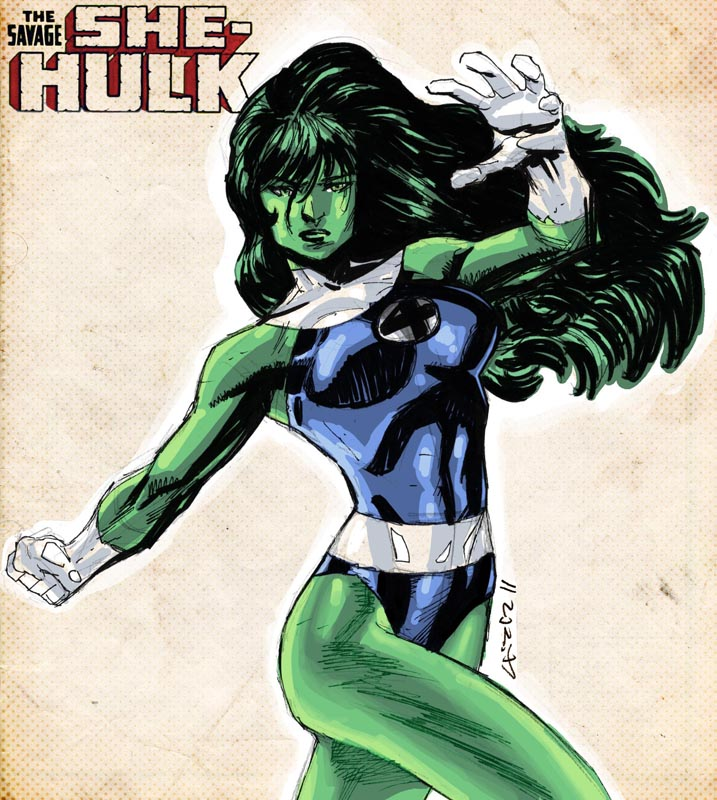 She-Hulk sketch by dichiara