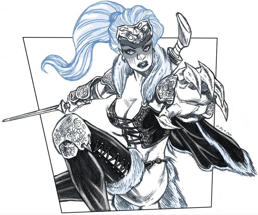 DSC - BlackCat Barbarian by dichiara