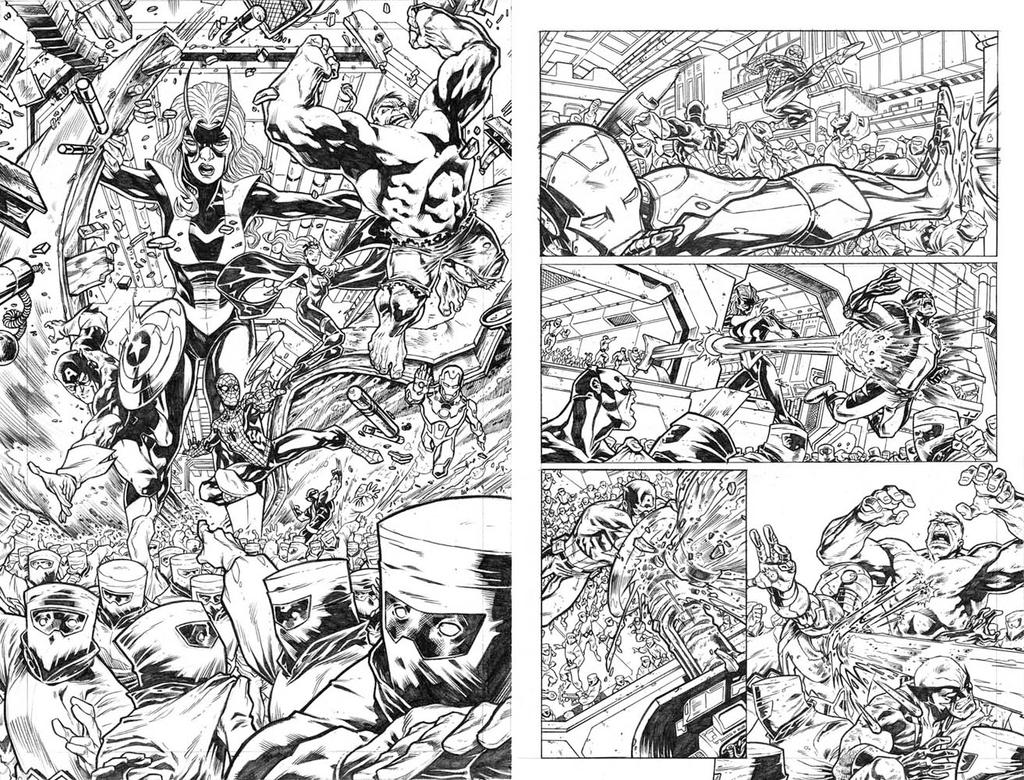 The Avengers pgs 01 and 02 by dichiara