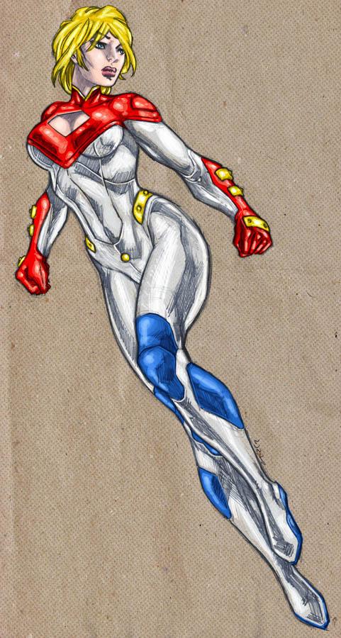 Power Girl my new 52 by dichiara