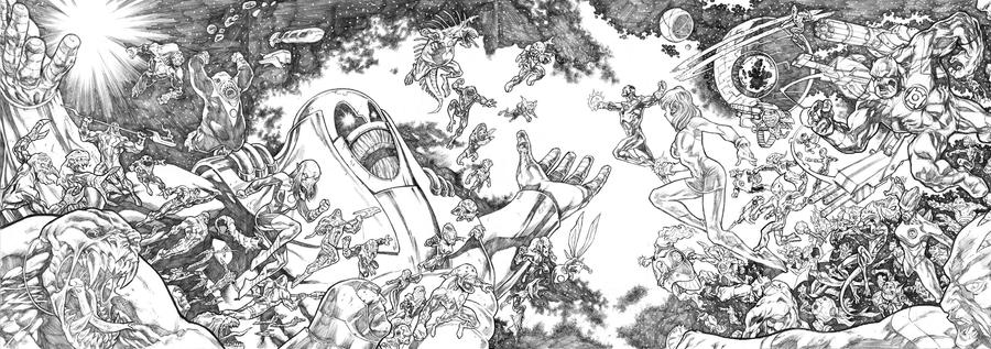 Green Lantern Corps - 4 pg spread by dichiara