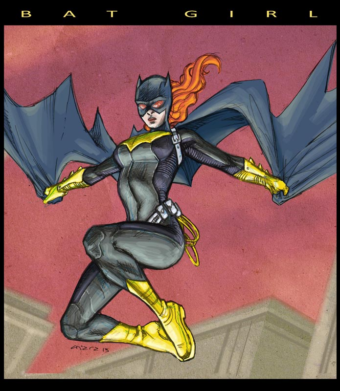 Batgirl Sketch. by dichiara