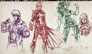 X-men characters sketches