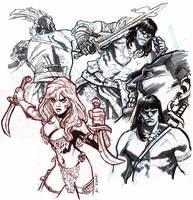 Conan sketches. by dichiara