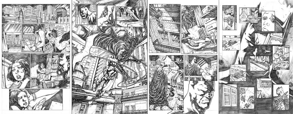 Batman pages by dichiara