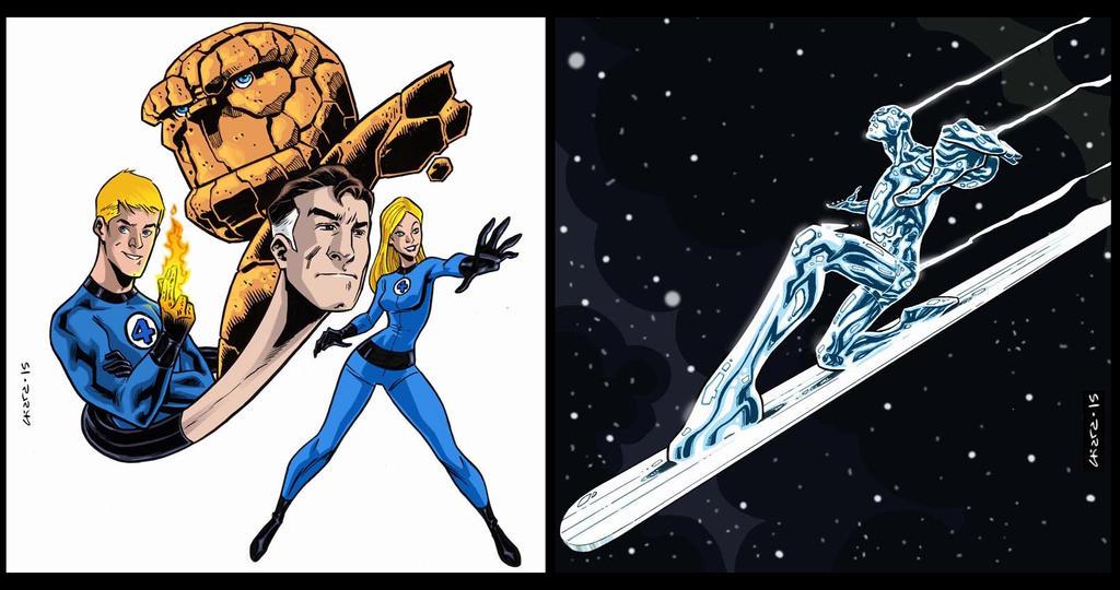 Fantastic Four / Silver Surfer by dichiara