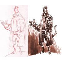 Hellboy by dichiara