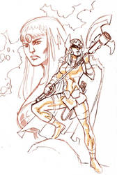 Big Barda Sketch