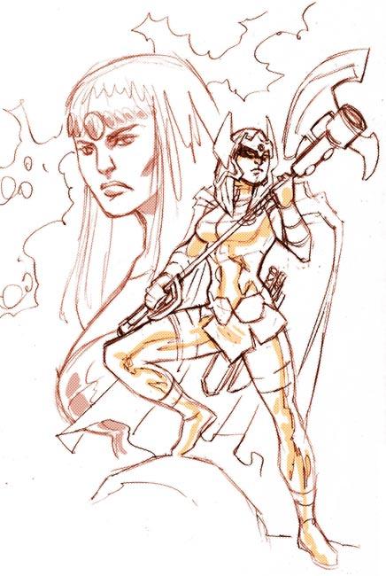Big Barda Sketch by dichiara