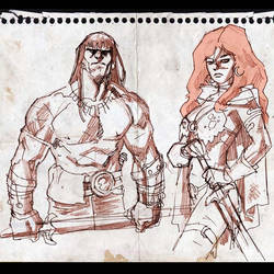 Conan and Red Sonja sketch.