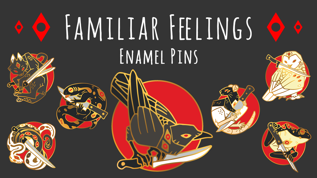 Kickstarter   Familiar Feelings Enamel Pins By Junijwi ...