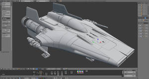 A-wing wip by wanoco4D