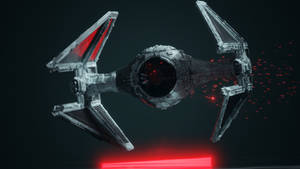 [Animation] TIE Interceptor (with YouTube URL) by wanoco4D