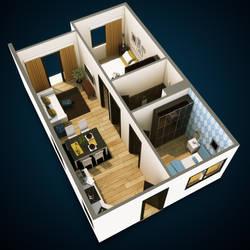 isometrical floorplan