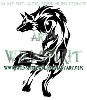 Tribal Set - Alert Wolf Design