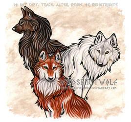 Threesome by WildSpiritWolf
