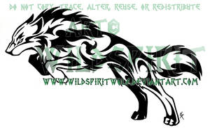 Tribal Determination Tattoo by WildSpiritWolf