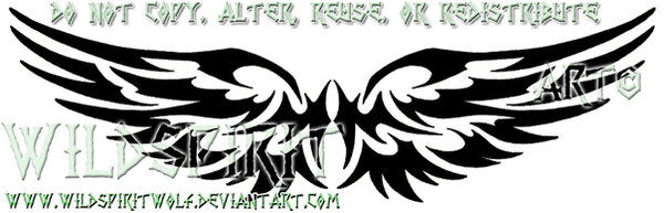 Feminine Tribal Wings Tattoo by WildSpiritWolf