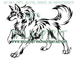 Nature Wolf Tattoo Commish