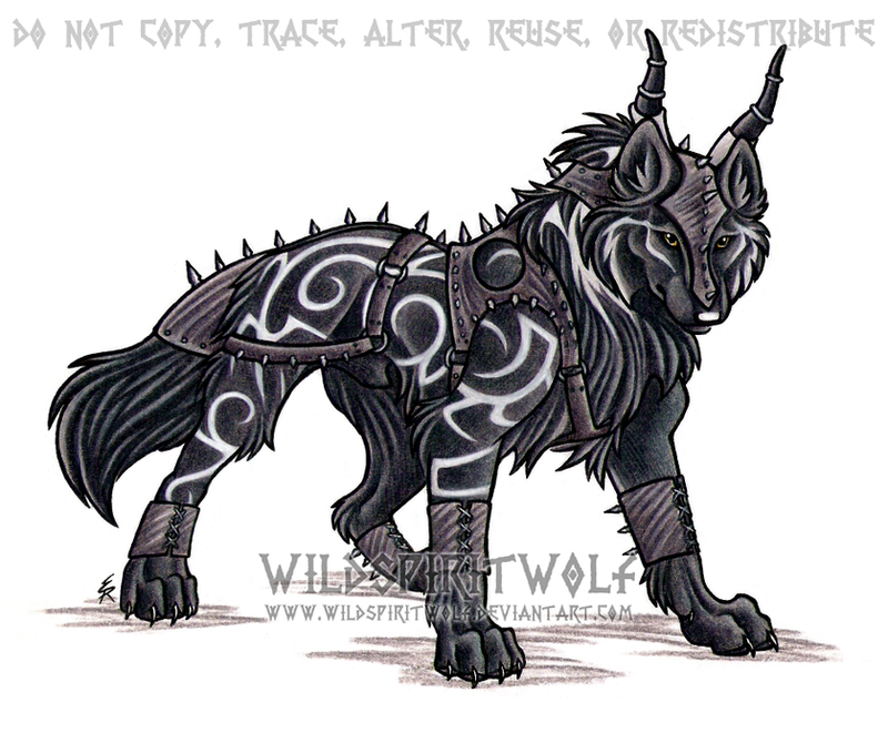 Tribal Armored Wolf Commission by WildSpiritWolf on DeviantArt