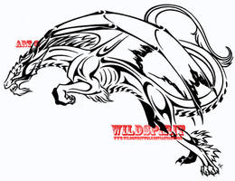 Tribal Vysh Dragon Design by WildSpiritWolf