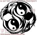 Dual Yin-Yang Wolves Tattoo
